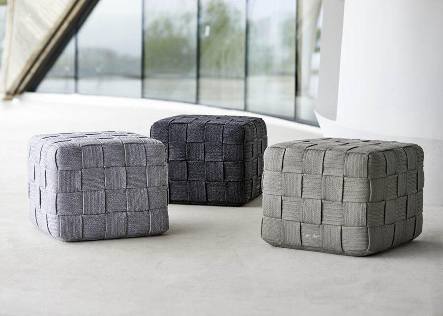 Cane-Line Cube pall ljusgrå