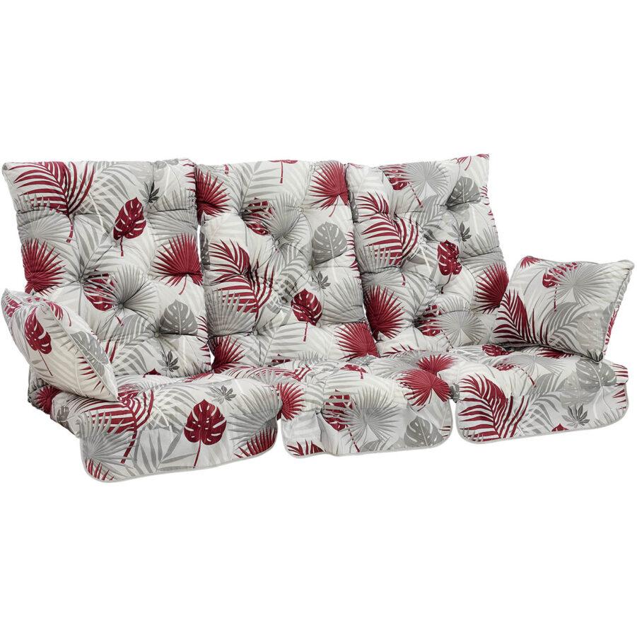 Brafab Softa hammockdynor hög rygg grå/röd mönstrad