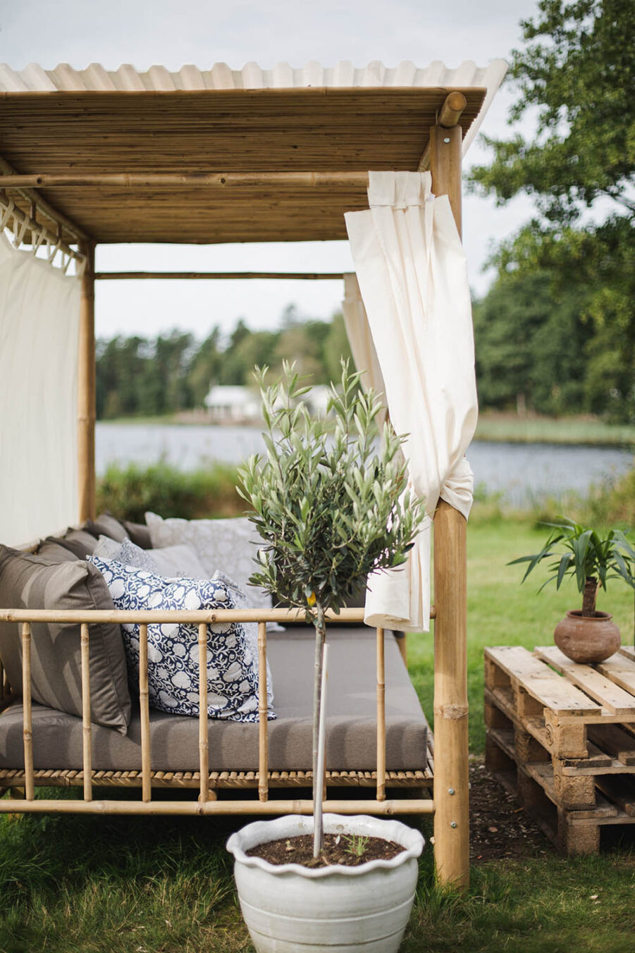Fritab Palle solsängsdyna royal betonggrå polyester/dralon