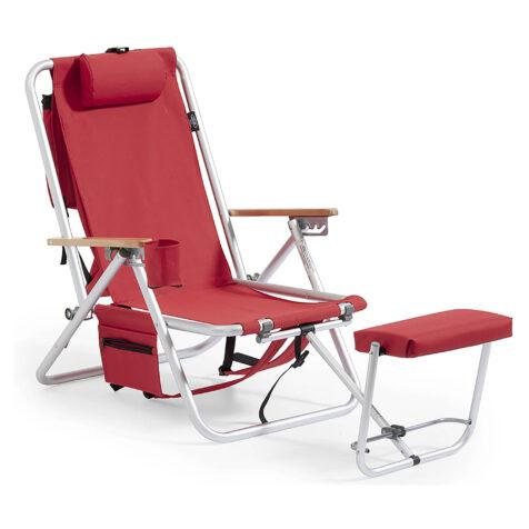 Fritab Roxy friluftsstol röd med kylbag och mobilficka