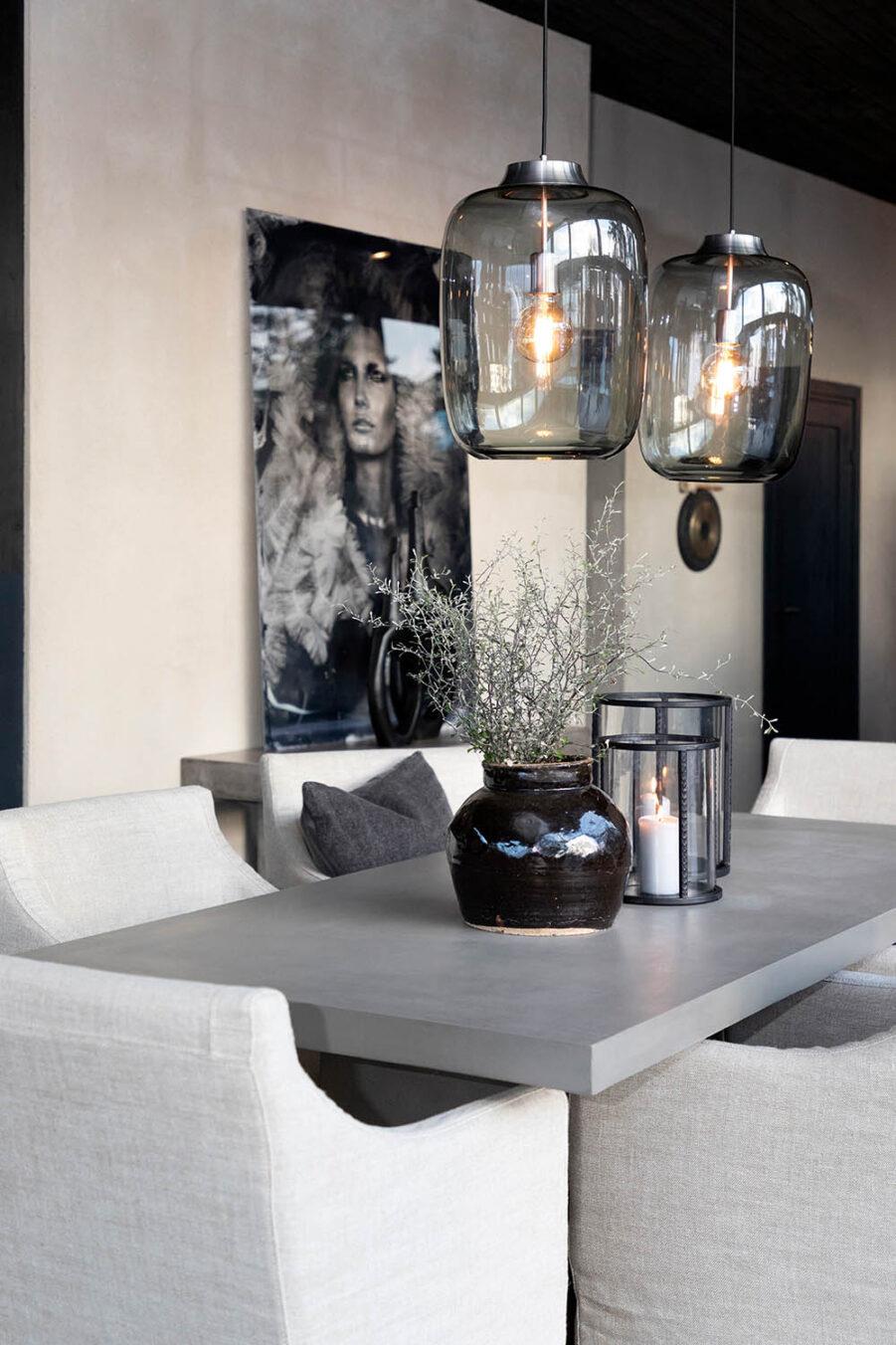 Artwood Campos delgado matbord och Mendoza lykta stor Ø23x31 cm