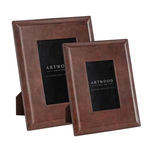 Artwood Mendoza fotoram brown leather 2-set