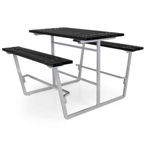 Brafab Snapparp stålpicnic hög svart/stål