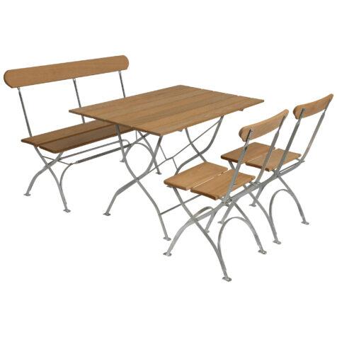 Grythyttan Bryggerigrupp med bänk och två stolar i oljad ek.