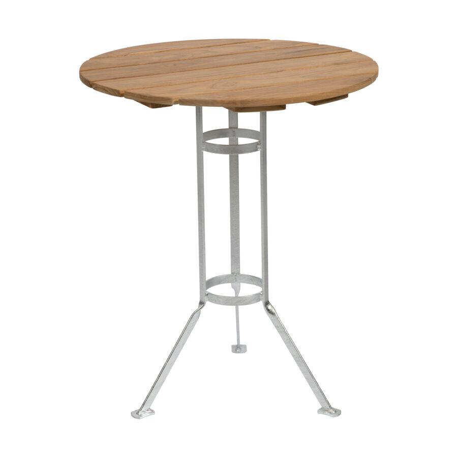 Bryggeribord i teak Ø60 cm.