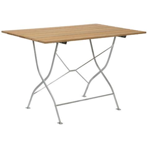 Bryggeribord med varmförzinkat stativ och bordsskiva i oljad ek.