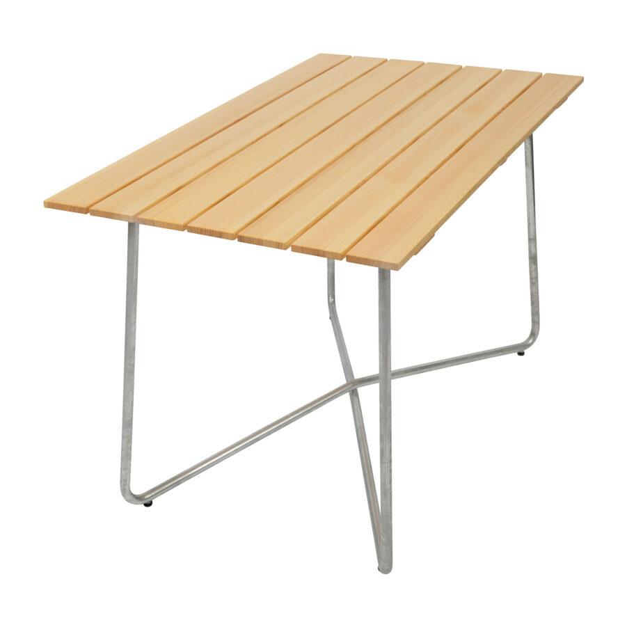 B25A bord i oljad furu och varmförzinkat stativ.