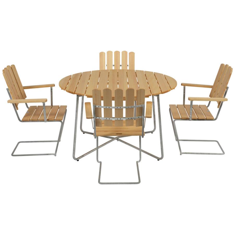 Klassiker furugrupp från Grythyttan med A2 och 9A bord.