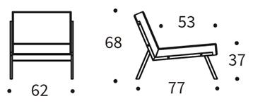 Mått på Vikko stol från Innovation-Living.