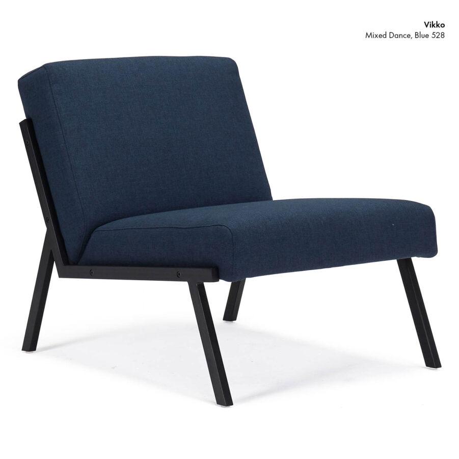 Vikko stol i färgen Mixed Dance Blue 528.