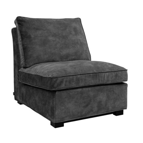 Artwood Town loungefåtölj velvet dark grey