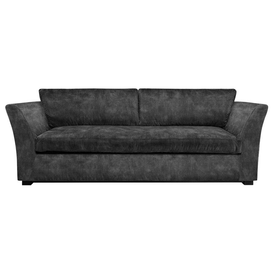 Artwood Stafford 3-sitssoffa velvet dark grey
