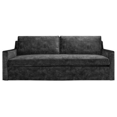 Artwood Guilford 3-sitssoffa velvet dark grey