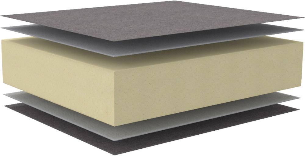 Genomskärning av Purem madrass från innovation.