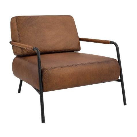 Artwood Sinclair fåtölj buffalo leather light brown
