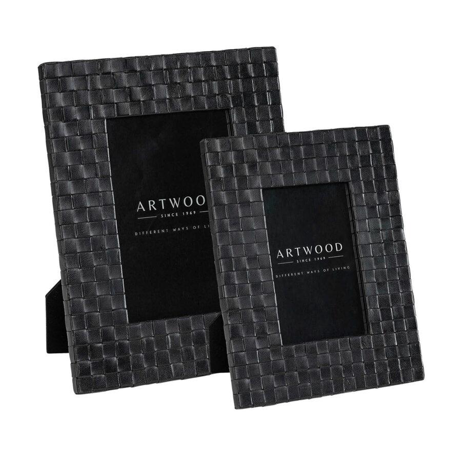 Artwood Fuego fotoram black leather 2-set