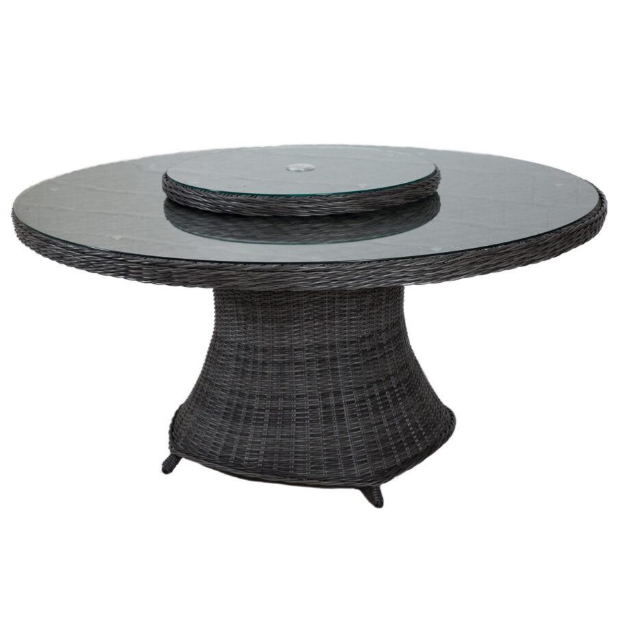 Hastings matbord Ø150 cm i antracitgrå konstrotting.