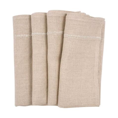 Chamois beige linneservetter.