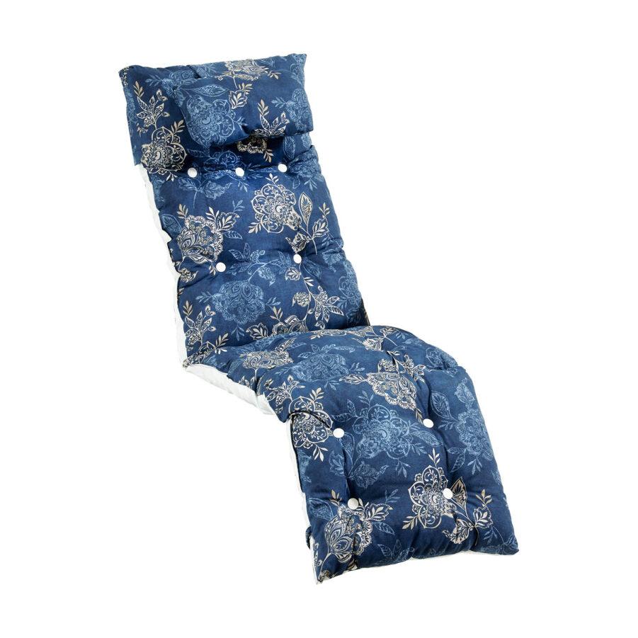 Baden-Baden dyna i blått blommigt mönster från Fritab.