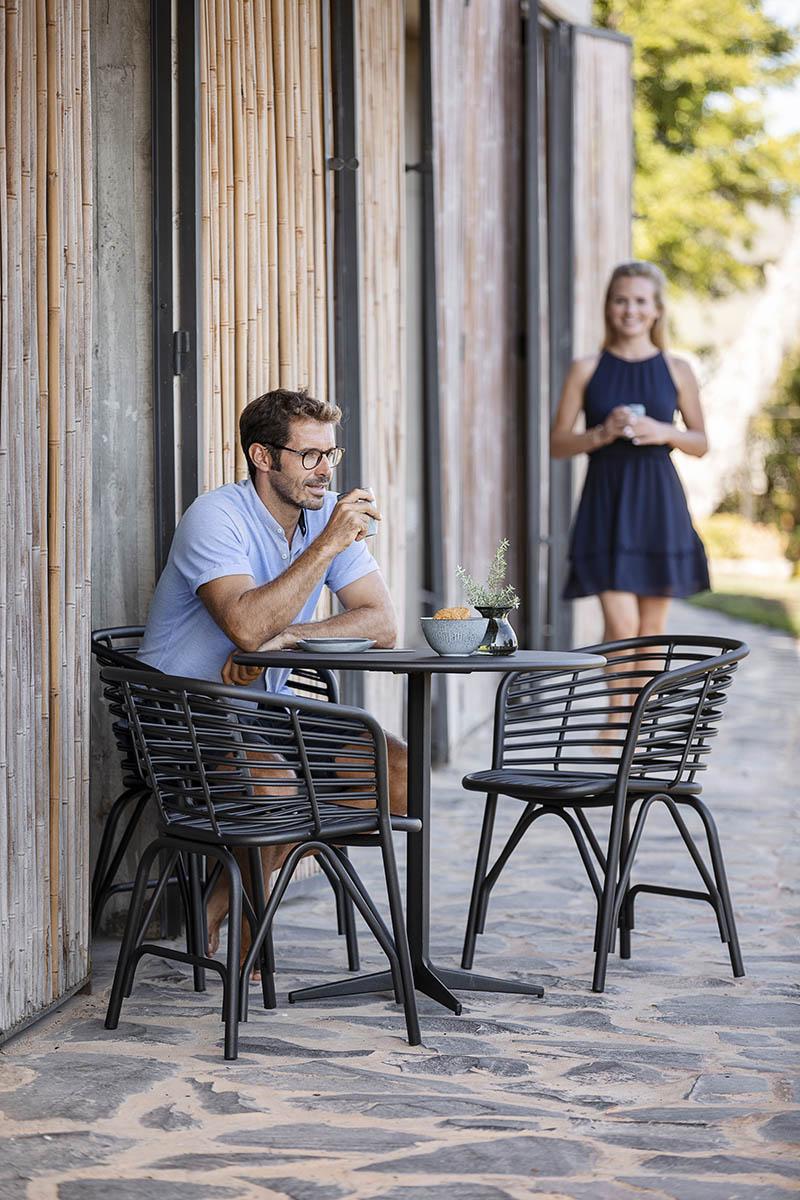 Blend karmstol outdoor lavagrå