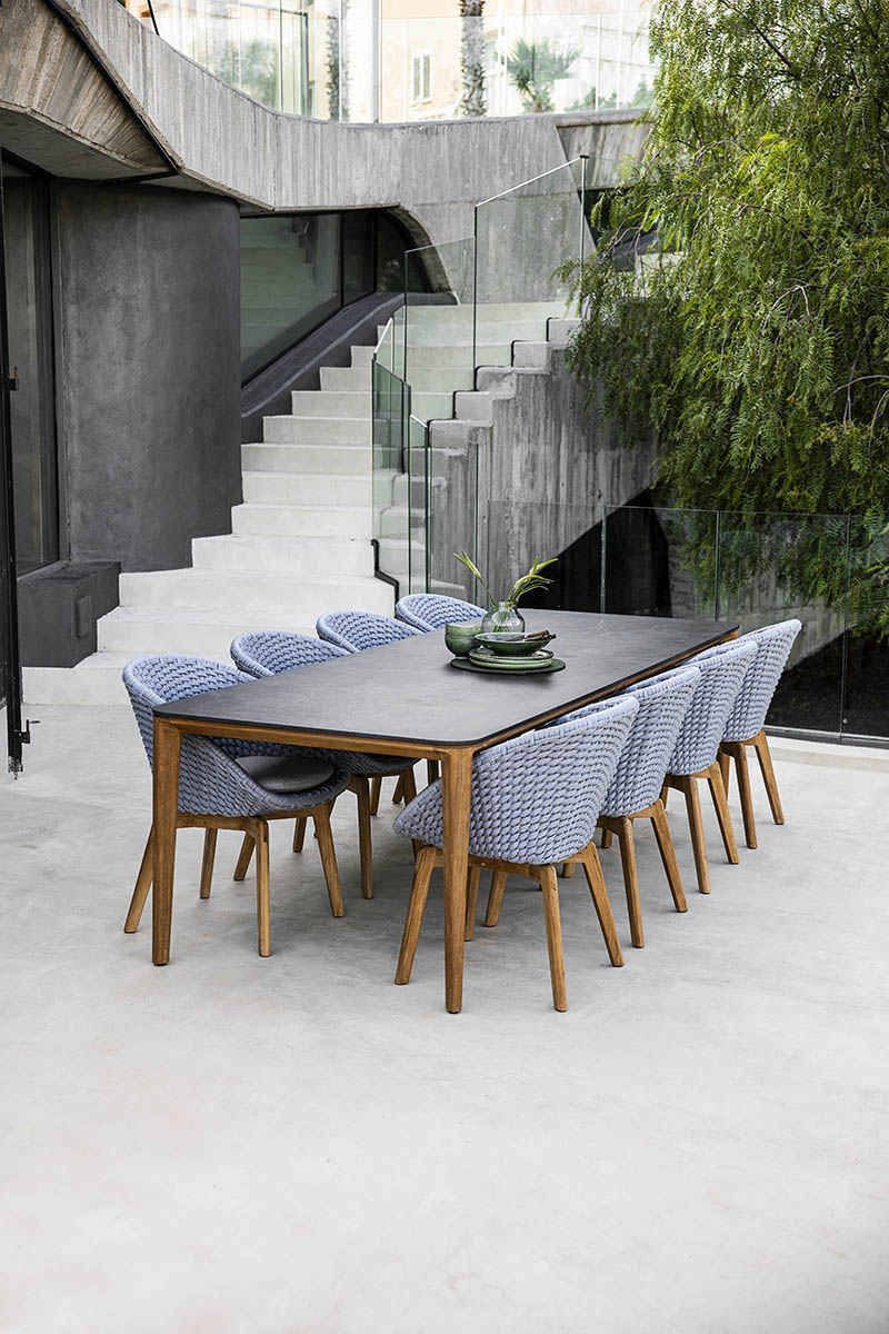 Cane-Line Aspect matbord 280x100 cm teak/keramik