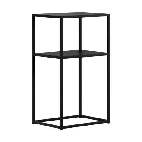 Design Of sängbord i svart.