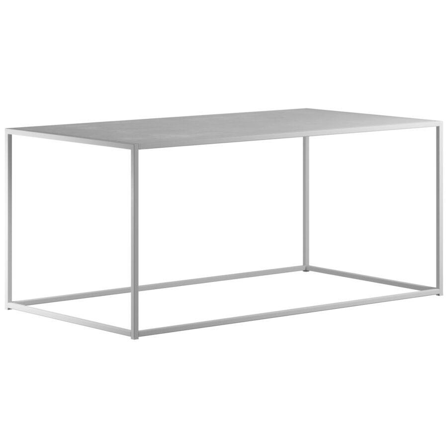 Rectangle soffbord i vitt från Design Of.