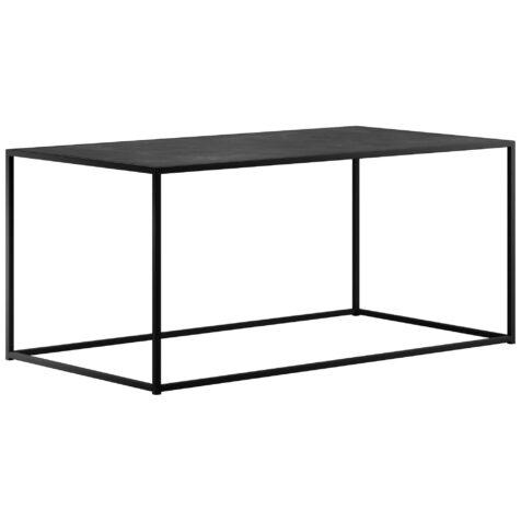 Rectangle soffbord från Design Of i svart stål.