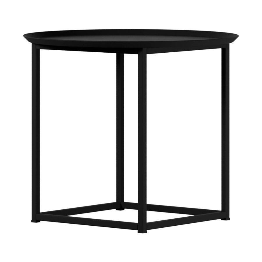 Round Square sidobord i svart från Design Of.