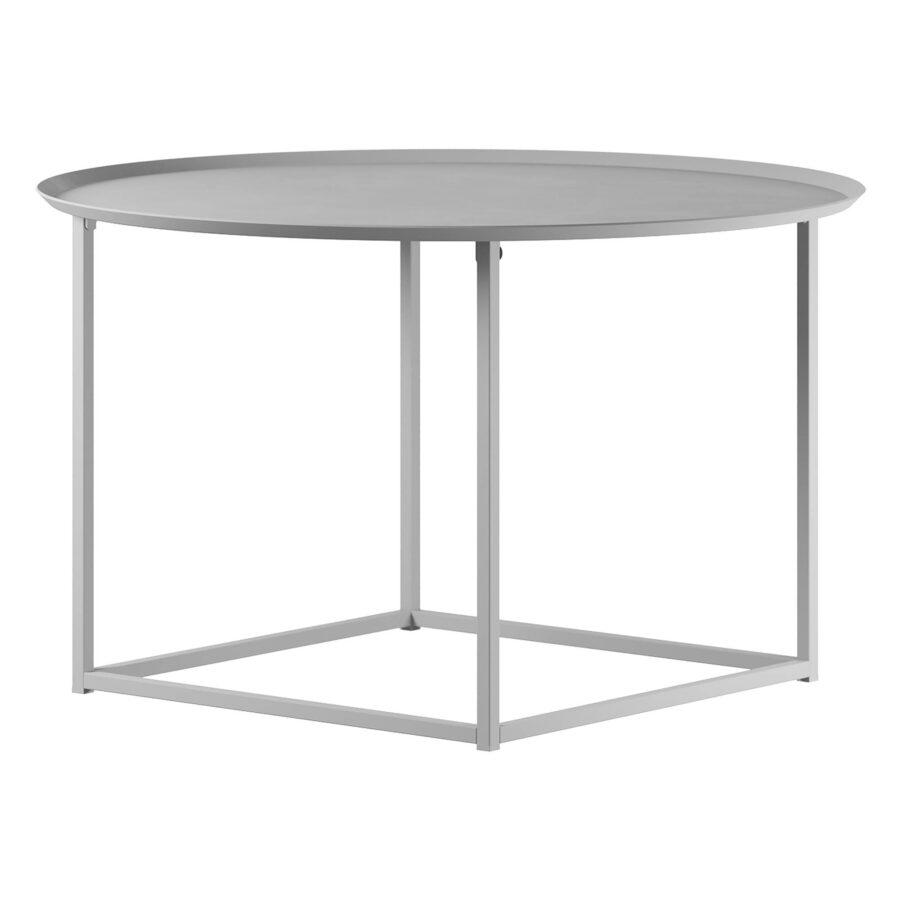 Design Of bord i vitt med rund bordsskiva.