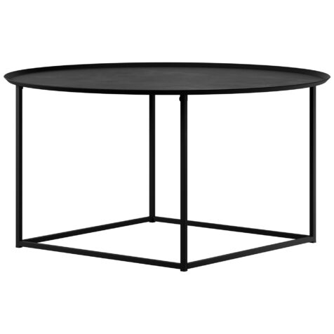 Design Of Round Square soffbord i svart.
