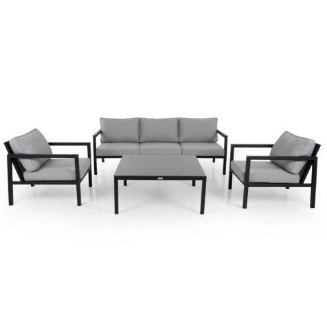 Belfort soffgrupp med svart soffbord i serien Leone.