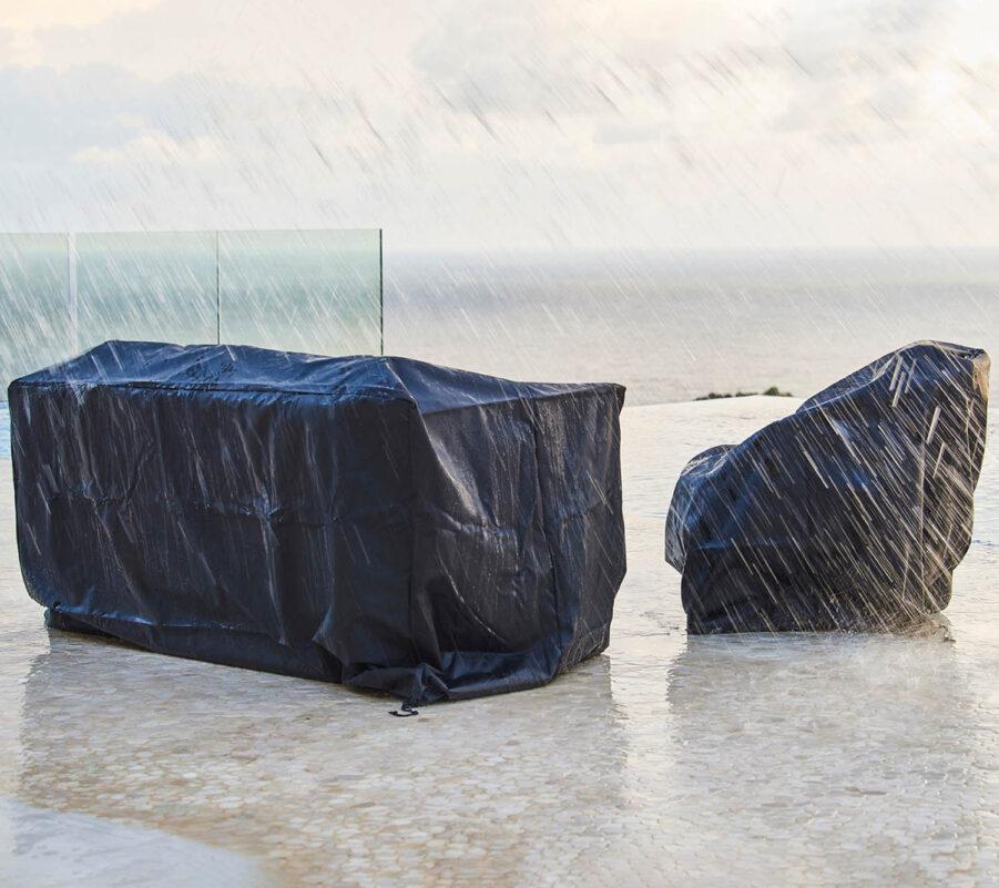 Miljöbild på möbelskydd från Cane-Line.