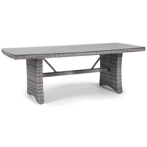 Hampton matbord i pärlgrå konstrotting.