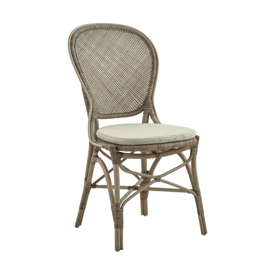 Rossini karmstol i färgen taupe med sitsdyna.