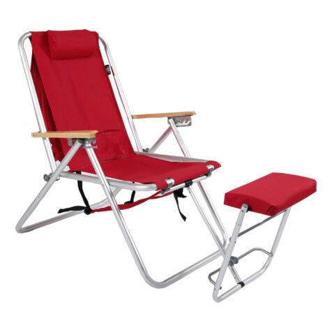 Roxy senior stol i rött.
