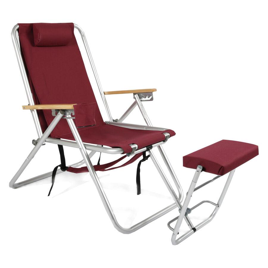 Roxy senior-stol i vinrött.