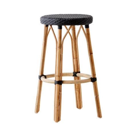 Sika-Design Simone barstol rotting / svart konstrotting