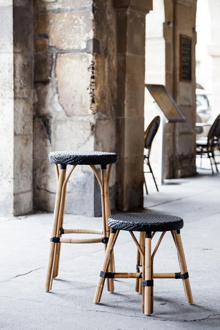 Sika-Design Simone pall låg rotting / svart konstrotting