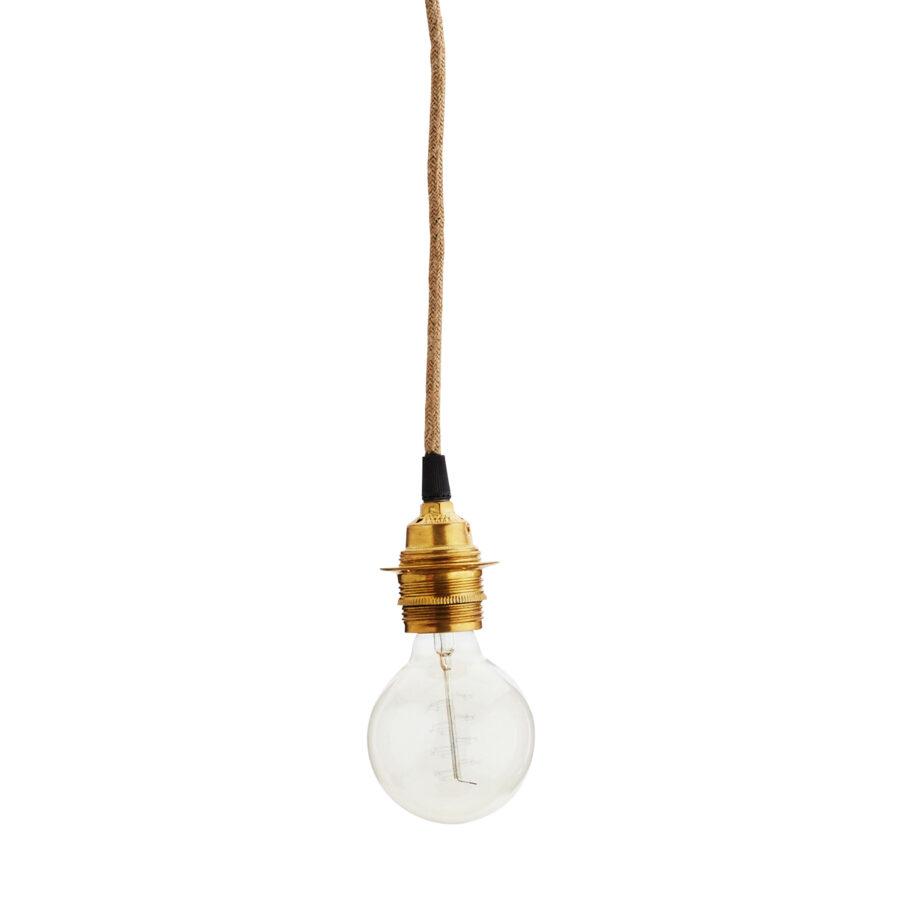 Lamphållare i mässingsfärg från Madam Stoltz.