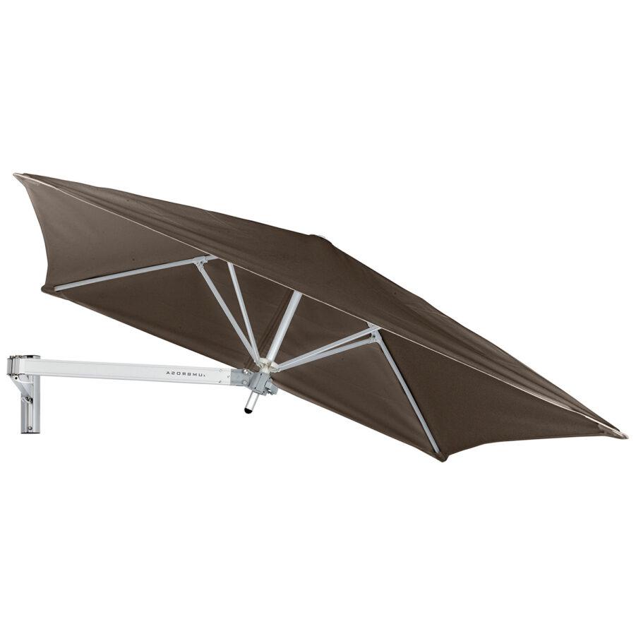 Paraflex litet fyrkantigt parasoll i färgen taupe.