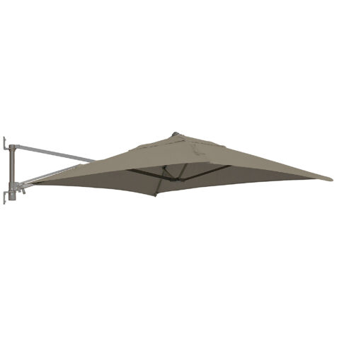 Murano parasoll i taupe från varumärket Madison.