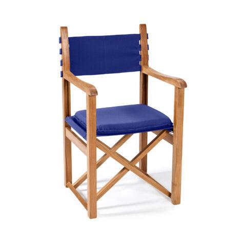 Stockamöllan Haväng regissörsstol teak/blå