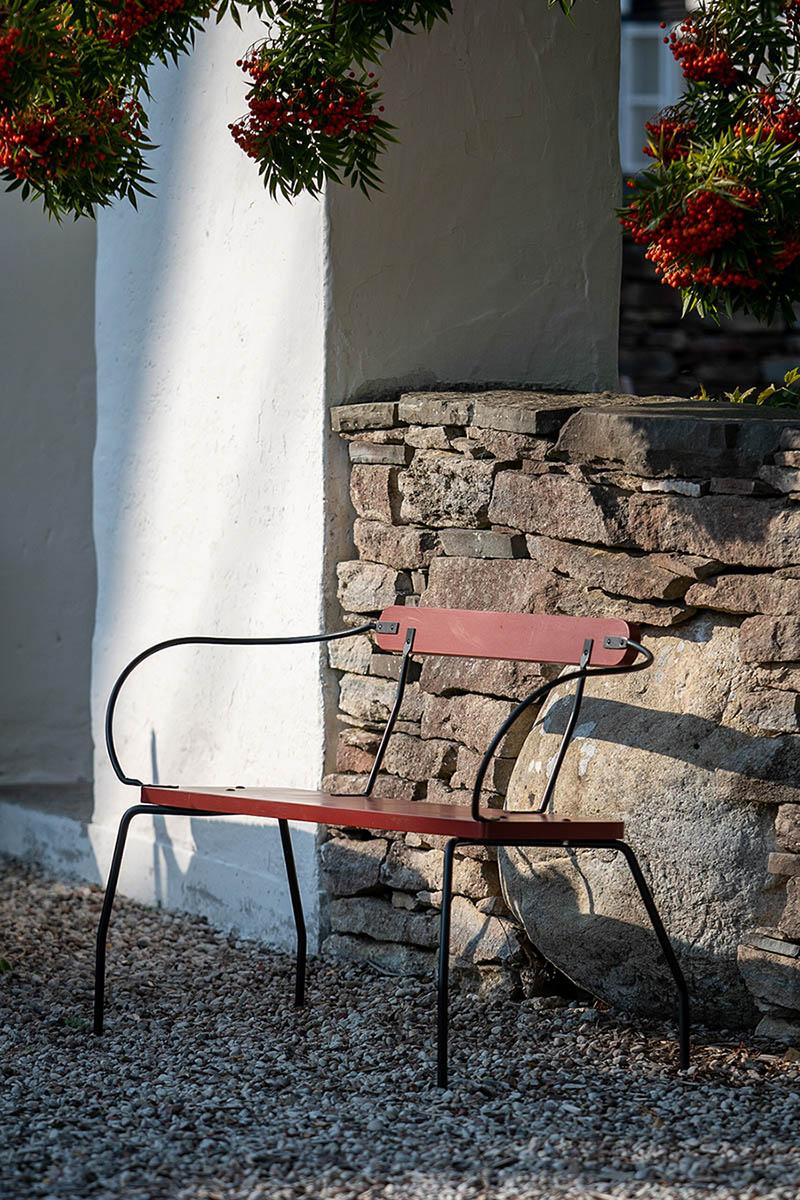 Guteform Kuskens vila soffa röd/grå