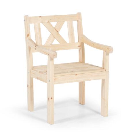 Läckö karmstol i obehandlad furu från Hillerstorp.