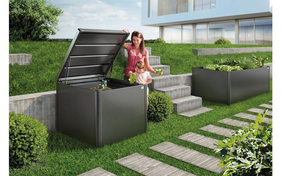 MonAmi kompost 102x102 cm mörkgrå