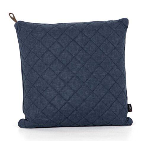 Diamond kudde 50x50 cm i blått olefintyg.