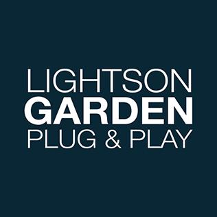 Logotype till varumärket LightsOn Garden.