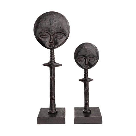 Tandu dekoration i svart gjuten aluminium.