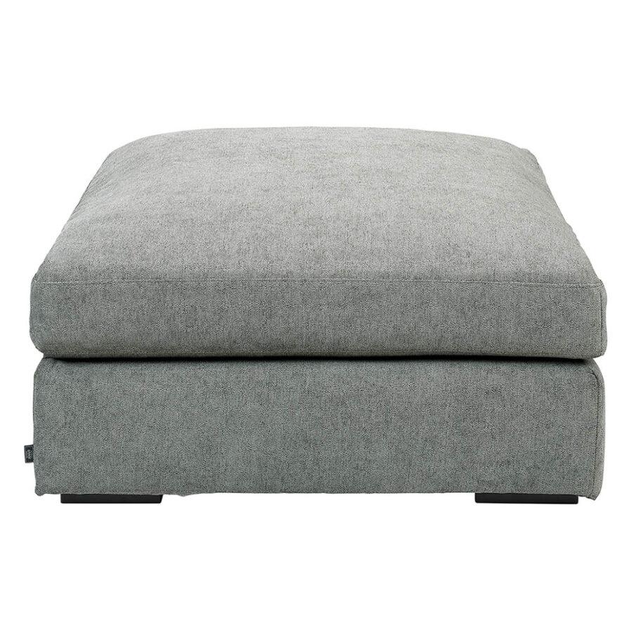 Tulum ottoman i färgen true grey.